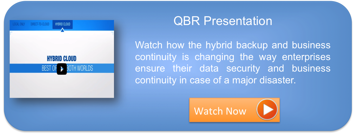 Quick Backup Recovery : QBR the hybrid backup and business continuity solution